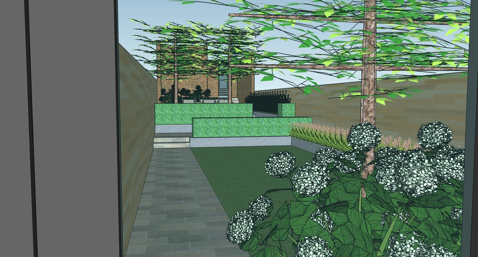 Tuinontwerp Ieper - Stadstuin van rijwoning