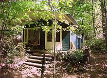 Logeren in een retro boshuisje (jaren 1950) te Lanaken