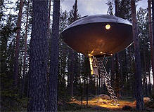 Logeren in een UFO te Harads